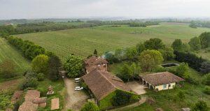 Vista aerea di Cascina Grillo in Piemonte